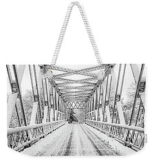 Weekender Tote Bag featuring the photograph Snow Angles by Kendall McKernon