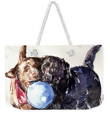 Snow Ball Weekender Tote Bag by Molly Poole