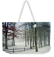 Snow Begins Weekender Tote Bag