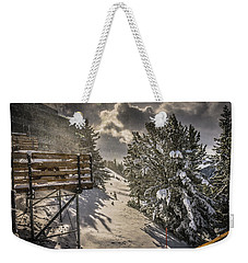 Weekender Tote Bag featuring the photograph Snow by Bill Howard