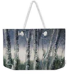 Snow Birch  Weekender Tote Bag