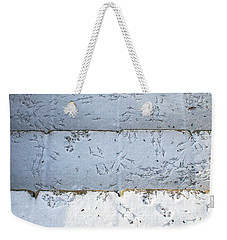 Snow Bird Tracks Weekender Tote Bag