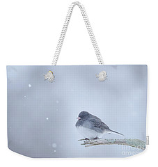 Snow Bird Weekender Tote Bag