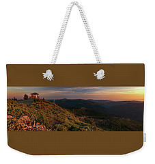 Weekender Tote Bag featuring the photograph Snow Camp Lookout by Leland D Howard
