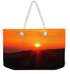 Weekender Tote Bag featuring the photograph Snow Camp View 2 by Leland D Howard