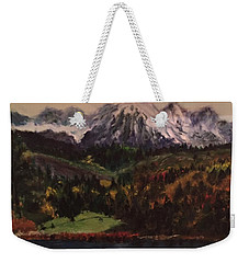 Snow Caped Mountain Weekender Tote Bag