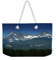 Snow Capped Mountains Weekender Tote Bag