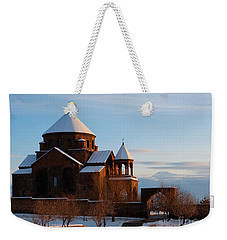 Snow Capped St. Hripsipe Church At Winter, Armenia Weekender Tote Bag