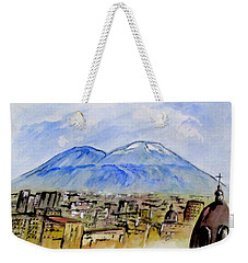 Snow Capped Vesuvio Weekender Tote Bag