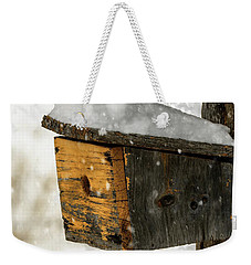 Snow Cover Weekender Tote Bag by Sherman Perry