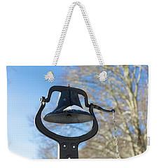 Snow Covered Bell Weekender Tote Bag