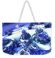 Snow Covered Fractal Weekender Tote Bag by Melissa Messick