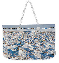 Snow Covered Grass Weekender Tote Bag
