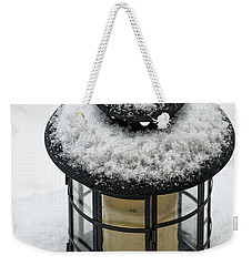 Snow Covered Lamp Weekender Tote Bag by Phil Abrams