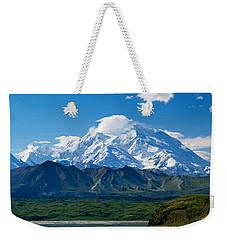 Snow-covered Mount Mckinley, Blue Sky Weekender Tote Bag