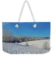 Snow Covered Pasture Weekender Tote Bag