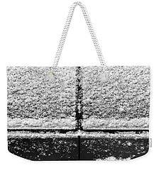 Weekender Tote Bag featuring the photograph Snow Covered Rear by Robert Knight