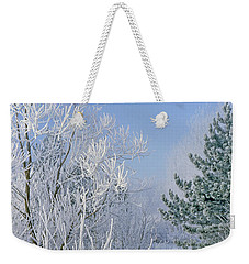 2a357 Snow Covered Trees At Alum Creek State Park Weekender Tote Bag