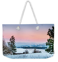 Snow Covered Valley Weekender Tote Bag