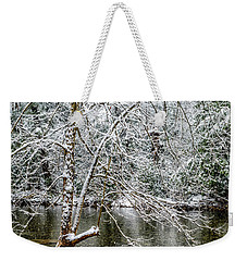 Weekender Tote Bag featuring the photograph Snow Cranberry River by Thomas R Fletcher