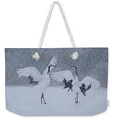 Snow Dancers Weekender Tote Bag