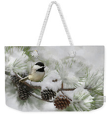 Weekender Tote Bag featuring the photograph Snow Day by Lori Deiter
