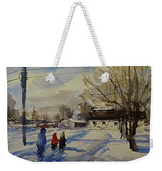 Snow Day Weekender Tote Bag by Sandra Strohschein