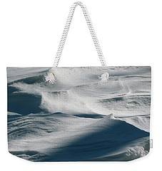 Snow Drift Weekender Tote Bag