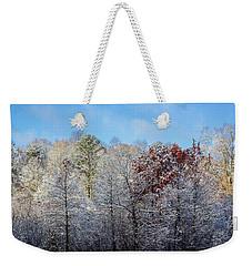 Snow Dust Weekender Tote Bag