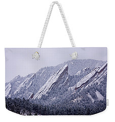 Snow Dusted Flatirons Boulder Colorado Weekender Tote Bag