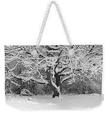 Snow Dusted Tree Weekender Tote Bag