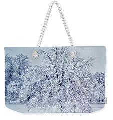 Snow Encrusted Tree Weekender Tote Bag