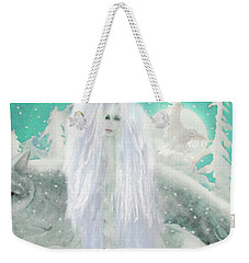 Snow Fairy Weekender Tote Bag