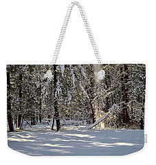 Snow Falling Off Cedars Weekender Tote Bag