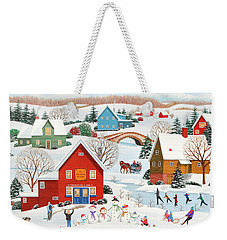 Snow Family  Weekender Tote Bag by Wilfrido Limvalencia