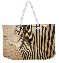 Snow Fence At Sunset Weekender Tote Bag