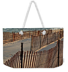 Weekender Tote Bag featuring the photograph Snow Fences 3.0 by Michelle Calkins