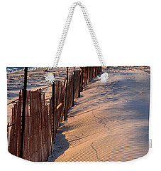 Weekender Tote Bag featuring the photograph Snow Fences 4.0 by Michelle Calkins