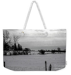 Snow Field Weekender Tote Bag by Elaine Hunter