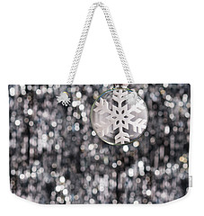 Weekender Tote Bag featuring the photograph Snow Flake by Ulrich Schade