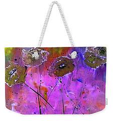 Snow Flowers Weekender Tote Bag by Lisa Kaiser