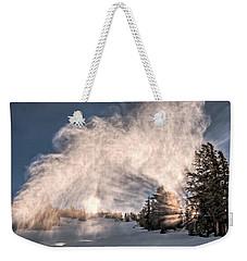 Snow Flume Weekender Tote Bag