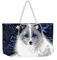 Snow Fox Weekender Tote Bag