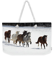 Snow Gallop Weekender Tote Bag