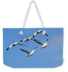 Snow Geese Flormation Weekender Tote Bag