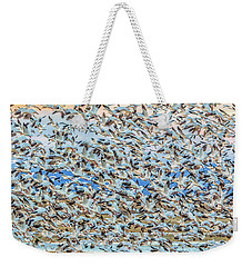 Snow Geese Fly Off Weekender Tote Bag