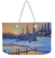 Snow Home Weekender Tote Bag