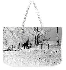 Snow Horse Weekender Tote Bag