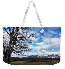 Snow In The High Mountains Weekender Tote Bag