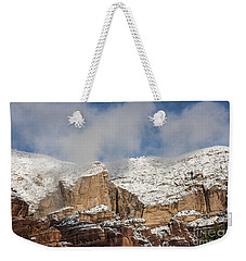 Weekender Tote Bag featuring the photograph Snow Kissed Morning In Sedona, Az by Sandra Bronstein